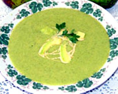 Avocado & Crab Soup | St Patrick's Day | Pinterest