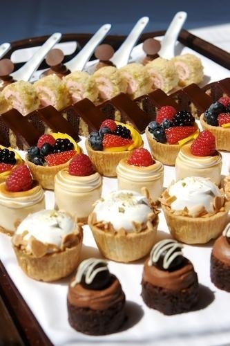beautiful mini desserts..