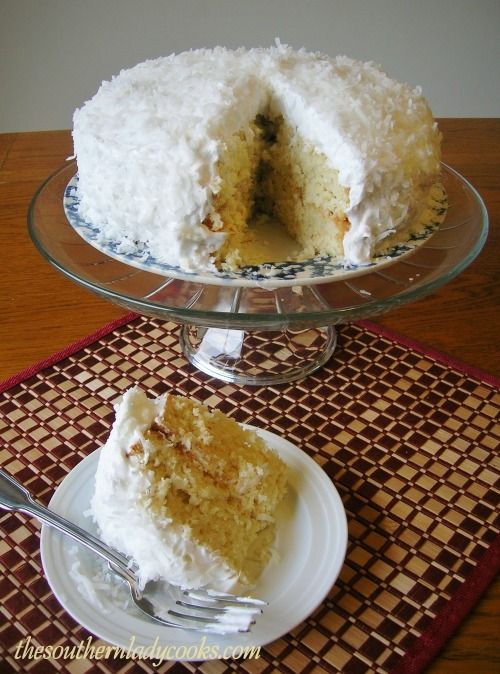 COCONUT CAKE WITH COCONUT FROSTING | Good Eats | Pinterest