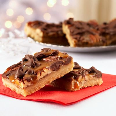 Caramel 'n' chocolate pecan bars -- seriously one of the best cookie ...
