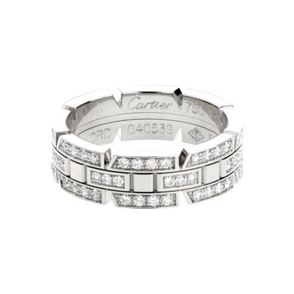 CARTIER, TANK FRANÇAISE WEDDING BAND White gold, diamonds REF ...