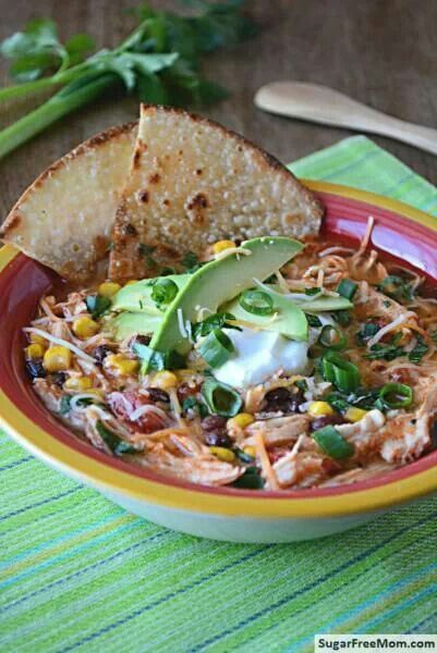 Crock pot chicken enchilada soup | Main Dish | Pinterest