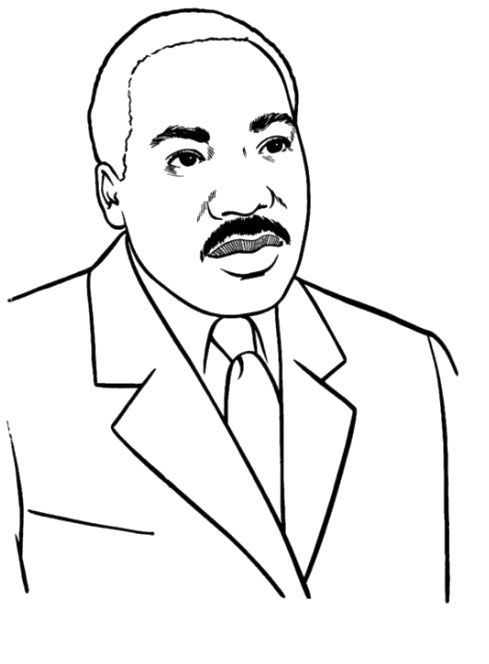 martin luther king free coloring pages
