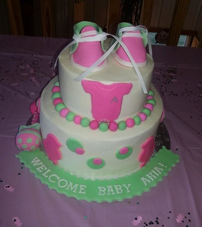 Baby Shower Cake by CuffCakes! Atlanta's Best Cakes and Cupcakes ...