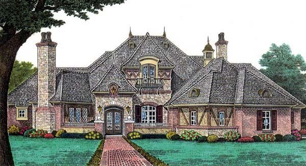European french country house plan 66202 for European country house plans