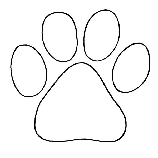 Puppy Paw To Trace Pinterest