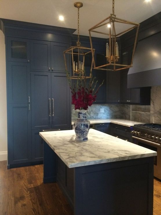 Navy Kitchen  Meredith Heron Design  Kitchens  Pinterest