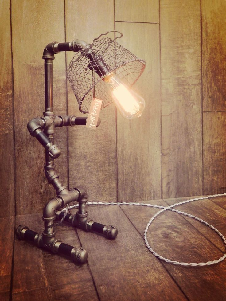 The dude black iron pipe lamp windy leigh mm originals for Black iron pipe lights
