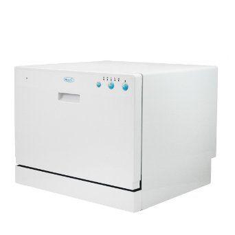 com : NewAir ADW-2600W 6 Place Setting Portable Countertop Dishwasher ...