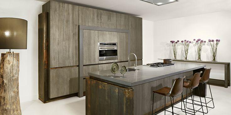 Moderne Keuken Kookeiland : tinello moderne keuken kookeiland op gietvloer keuken woonbeurs