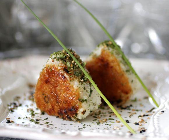 Brown Rice Yaki Onigiri With Bacon And Avocado Recipes — Dishmaps