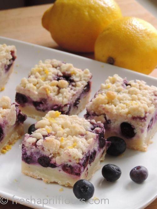 Blueberry Lemon Pie Bars | Sweetness | Pinterest