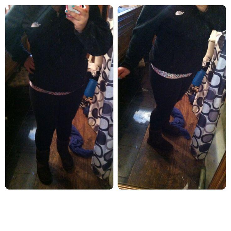 #simple Victoria's Secret Legging Yoga Pants; Black