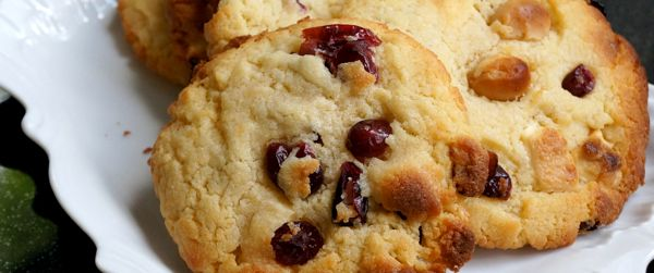White chocolate & cranberry cookies | Foood | Pinterest
