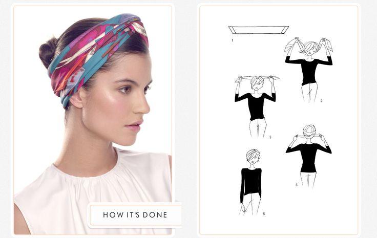 ¿Cómo usar un pañuelo en la cabeza? ¡Aquí te enseñamos 4 formas distintas! - Cranberry Chic