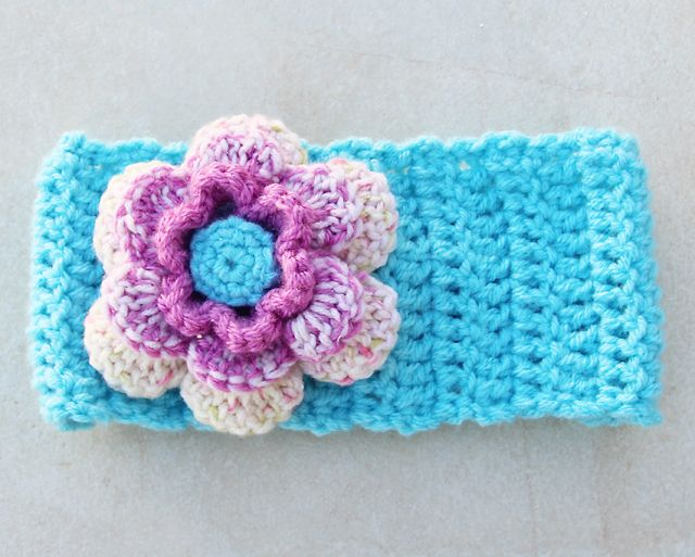 Crochet Pattern For Ear Warmer With Flower : Crochet ear warmer Crochet Pinterest