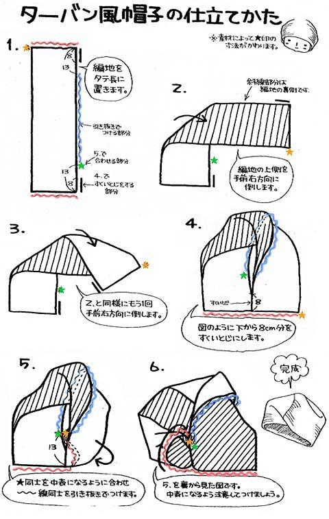 Как сшить шапку чалму выкройка 789