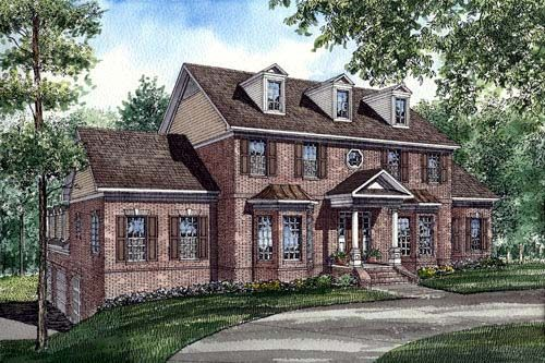 Colonial Southern House Plan 61025