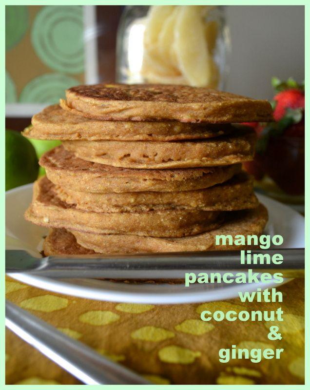 Mango Lime Pancakes w/ links to: Whole Wheat Chocolate Chip Banana ...