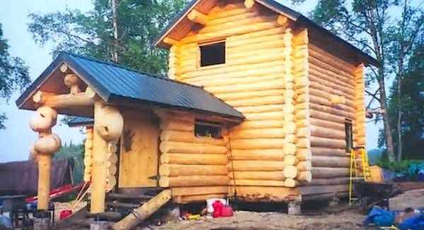 Diy Remote Log Cabin In Alaska Tiny Houses Pinterest