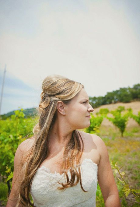 Rustic Half-up Wedding Hairstyle Hairstyles | Brides.com