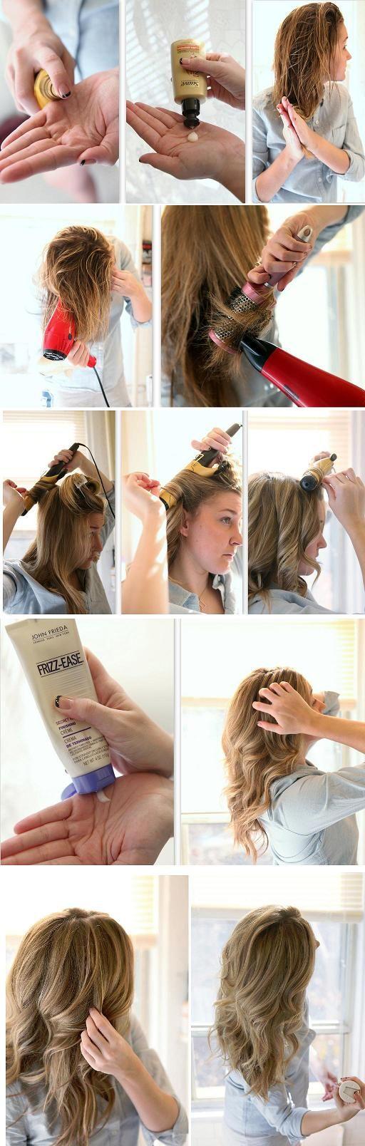 Как сделать волосы волнистыми при помощи пенки 754
