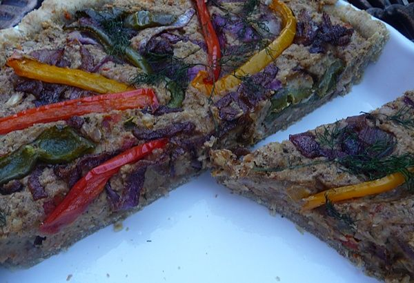 Roasted Three Pepper & Caramelised Red Onion Quiche with an Olive Oil ...