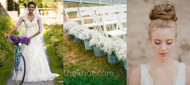 Noivas e decoração para casamento rústico