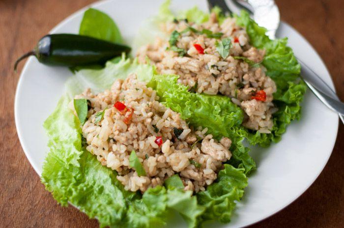 Spicy Chicken Lettuce Wraps - thekitchensnob.com