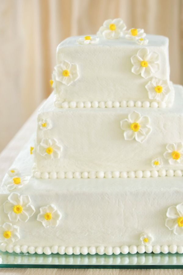 White Wedding Cake With Raspberry Filling Would Be A Sweet Gift