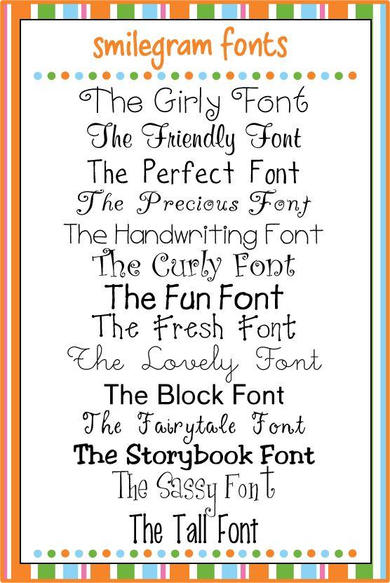 cute writing fonts