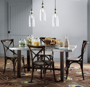 Industrial Artisan Dining Table for $200 + free shipping