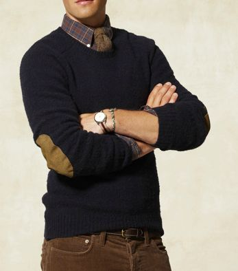 Mens Elbow Patch Sweater - ShopStyle