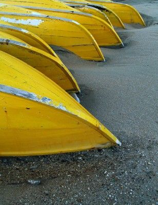 yellow boats