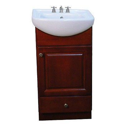 petite 18 inch dark cherry white bathroom vanity