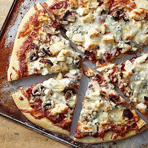 Blue Cheese and Balsamic Chicken Pizza - midwestliving.com