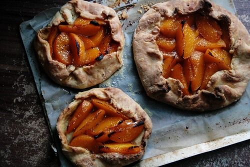 ... peach and lemon thyme galette galette recipe yummly blueberry peach