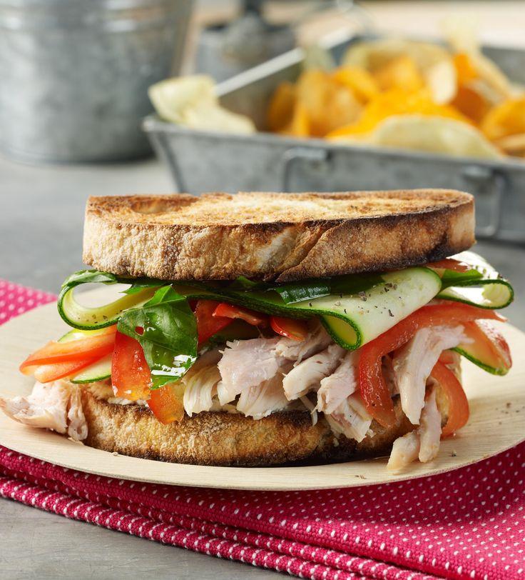 Chicken Sandwiches with Lemon-Basil Zucchini and Boursin | Recipe