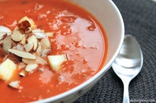 Spiced-Coconut-Tomato-Soup-with-Brown-Rice-Almonds-and-Paneer Skip the ...