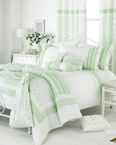 Green And White Bedroom Mint Green Pinterest