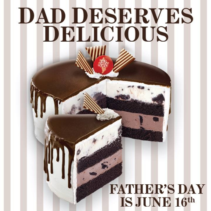 cold stone father's day cakes