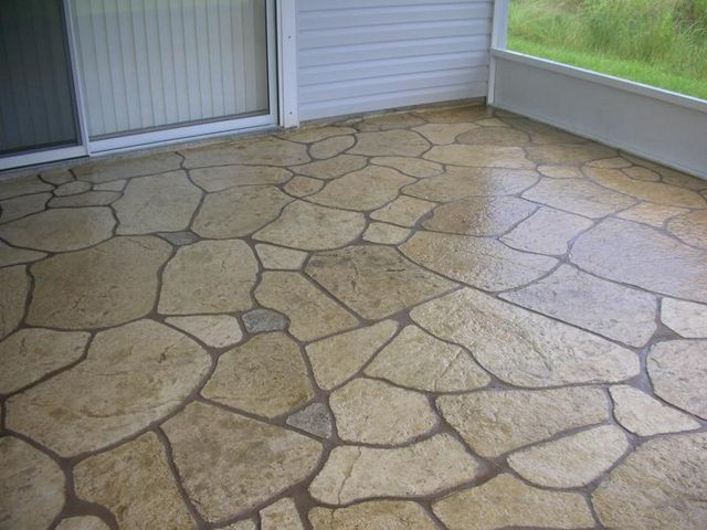 Concrete Patio Designs For The Home Pinterest