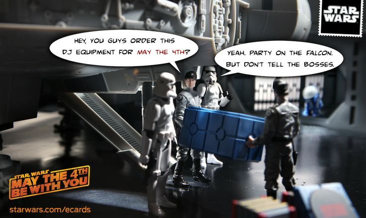May the 4th: Party on the Falcon - Star Wars eCards | StarWars.com
