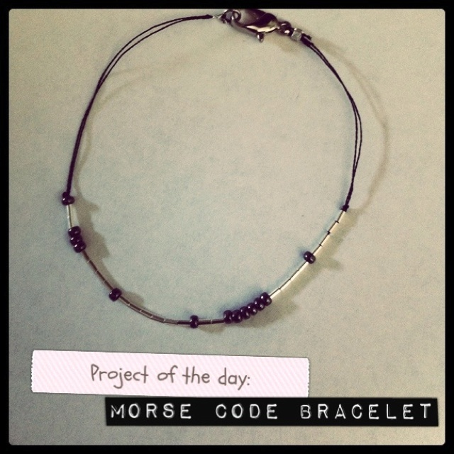 Made a DIY morse code bracelet ;) it spells out my name