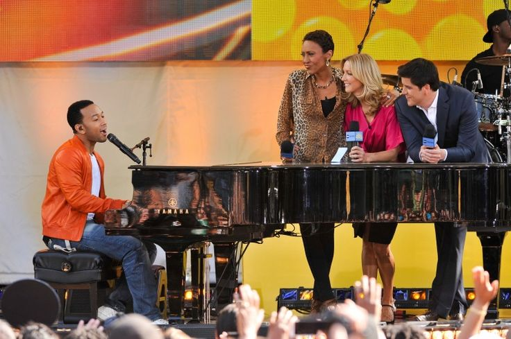 John Legend, Robin Roberts, Lara Spencer, And Josh Elliott | GRAMMY.com