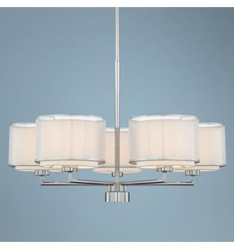 Possini Euro Design 5-Light Overlapping Shade Chandelier