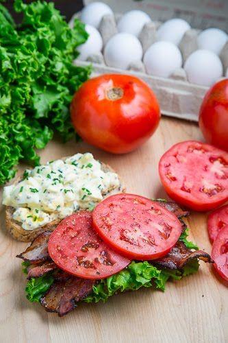 BELT (Bacon Egg Lettuce Tomato) Sandwich   Recipe