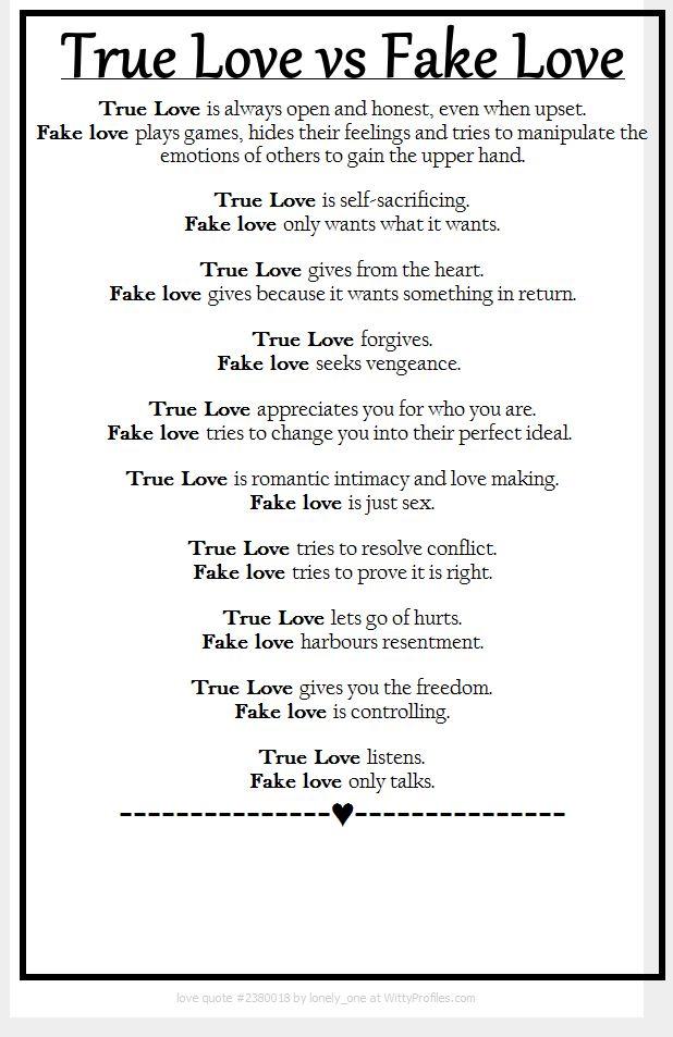 Narcissists=fake love