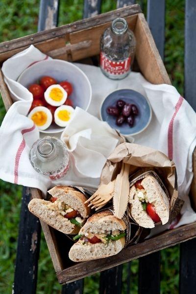 Picnic #Tuna Nicoise #Sandwiches | Nom Nom Nom | Pinterest