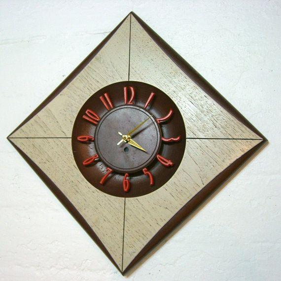 mid century wall clock tick tock pinterest